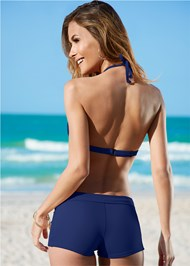 Back view Enhancer Push Up Ring Halter Triangle Top