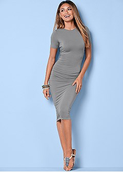 basic high neck dress