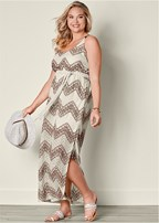 plus size belted maxi dress