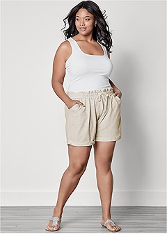 plus size terry shorts