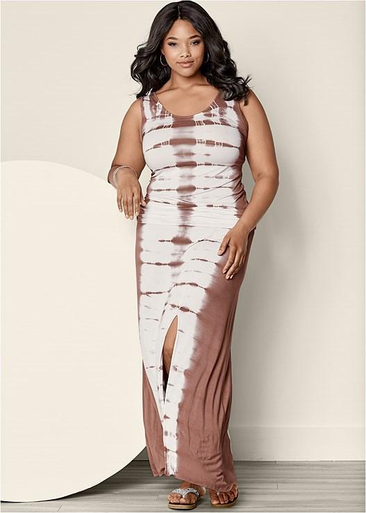 Plus Size TIE DYE MAXI DRESS | VENUS