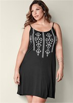 plus size printed tank dress