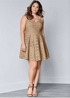 plus size eyelet dress