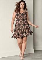 plus size swing print dress
