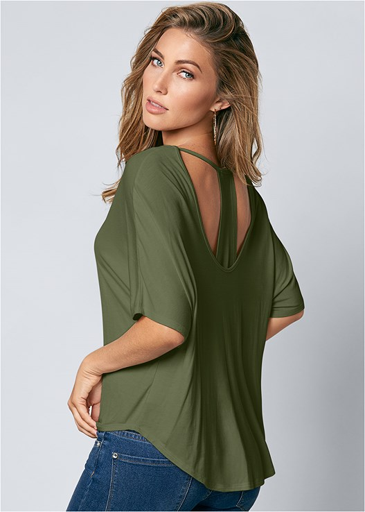 RACERBACK BASIC TOP,COLOR SKINNY JEANS