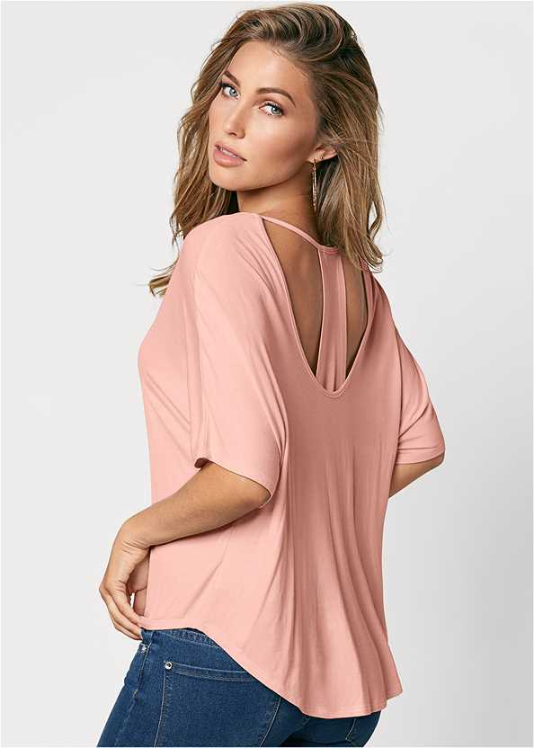 Racerback Basic Top,Mid Rise Color Skinny Jeans