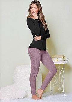 lined sweater lounge pant