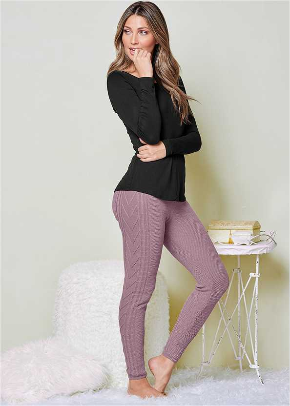 Lined Sweater Lounge Pants