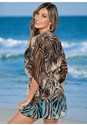 Back view Beaded V-Neck Poncho