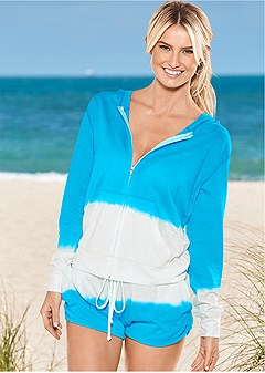 terry cover-up shorts