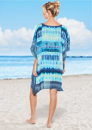 Back view Oversized V-Neck Poncho