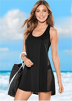 mesh side racerback coverup