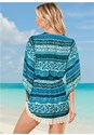 Back view Deep V Crochet Romper