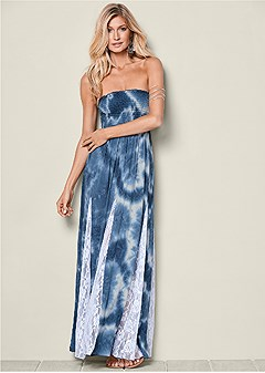 lace detailed maxi dress