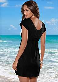 Back view Color Block V-Neck Cover-Up