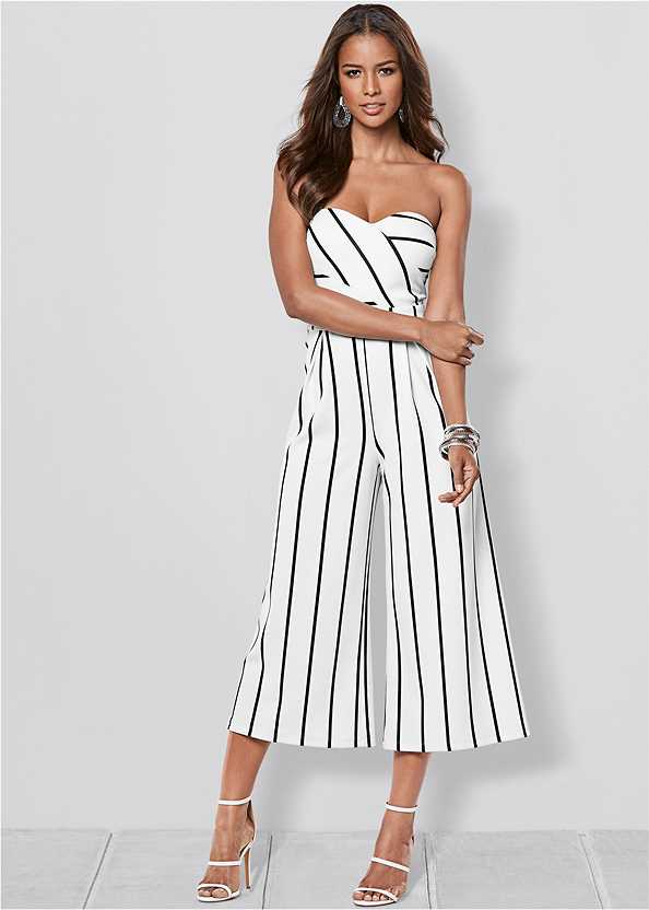 Stripe Culotte Jumpsuit