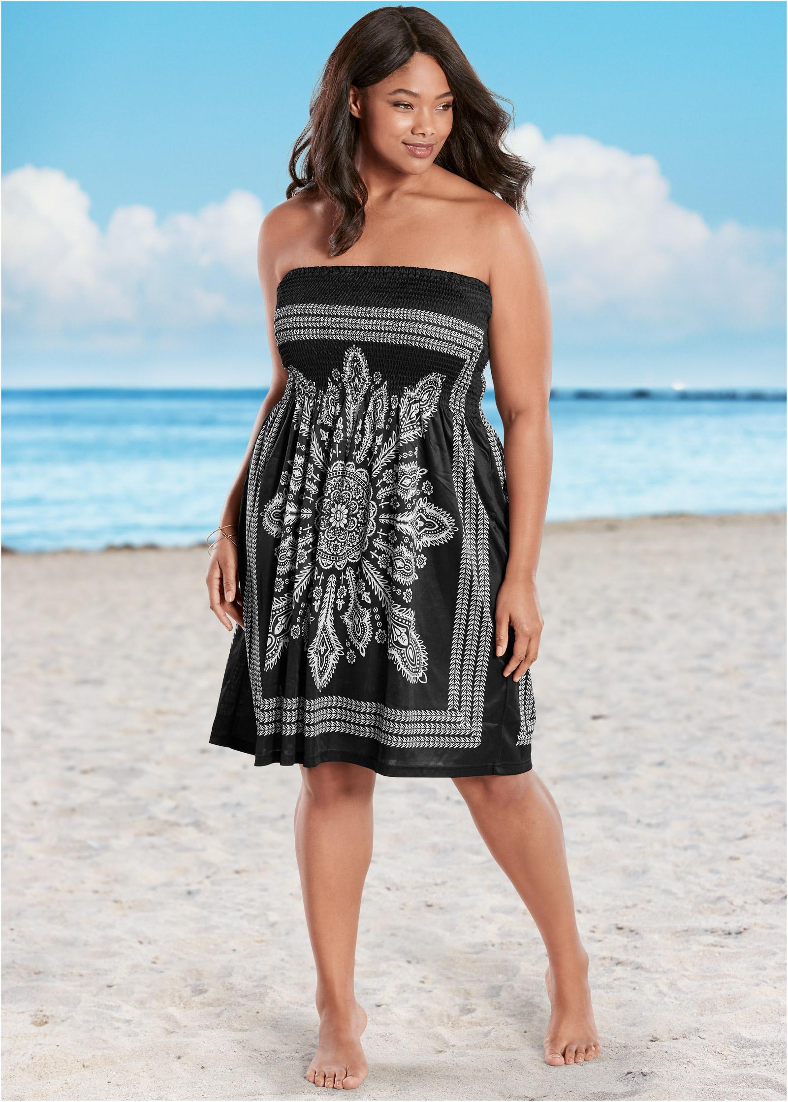Plus Size Swim Cover Up Dress