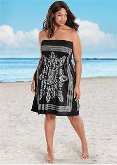 fdd70d78515 Plus Size BANDEAU DRESS Cover Up