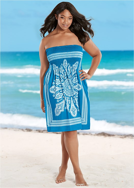 17a84e966327a Plus Size BANDEAU DRESS Cover Up