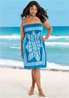 plus size bandeau dress