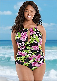plus size the aloha one-piece