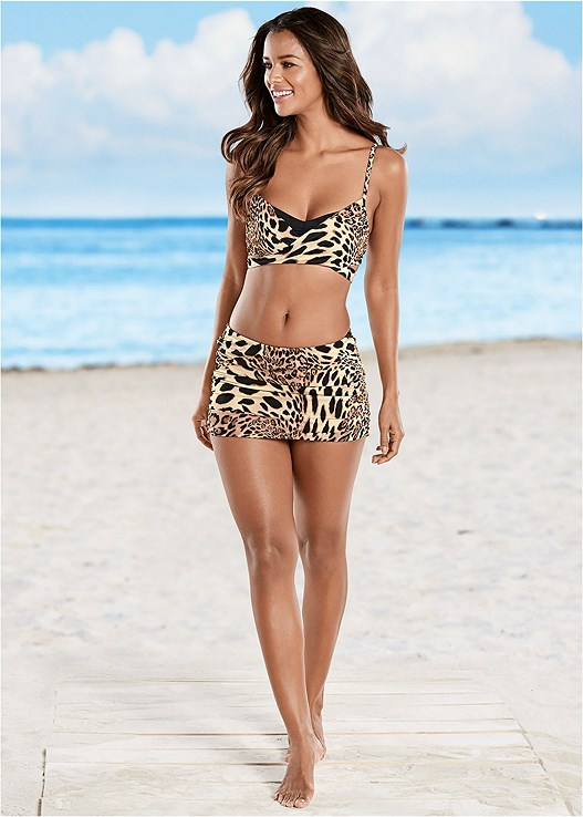 RUCHED SKIRTED BOTTOM,CRISS CROSS WRAP TOP,LOVELY LIFT WRAP BIKINI TOP,SIREN TANKINI TOP