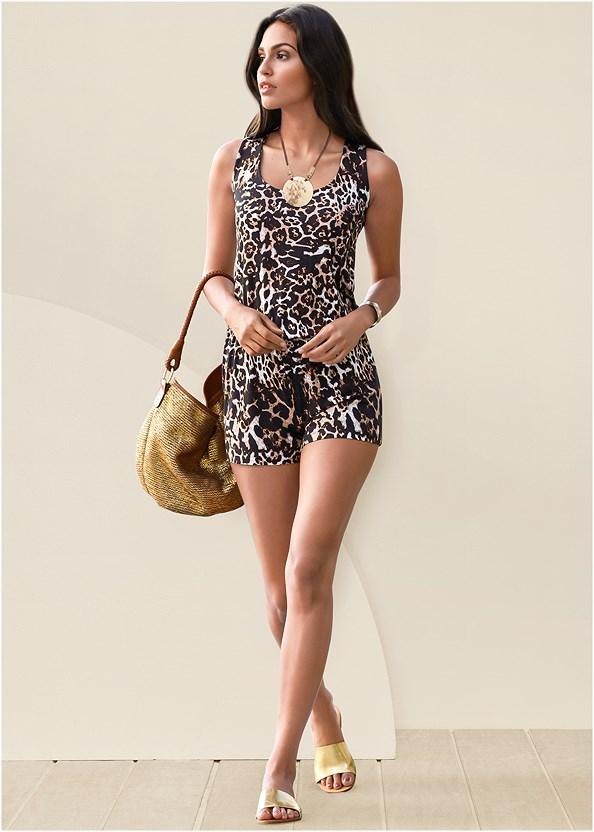 Leopard Romper,Naked T-Shirt Bra