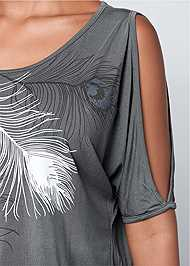 Alternate view Feather Cold Shoulder Tee