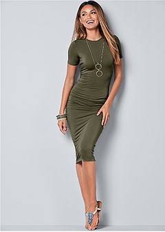 basic high neck dress