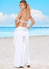 Back view Tie Waist Beach Pant