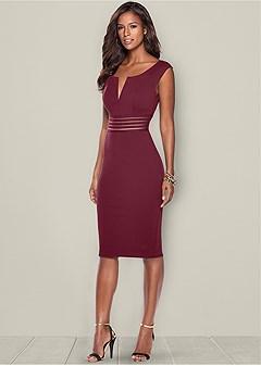 waist detail dress