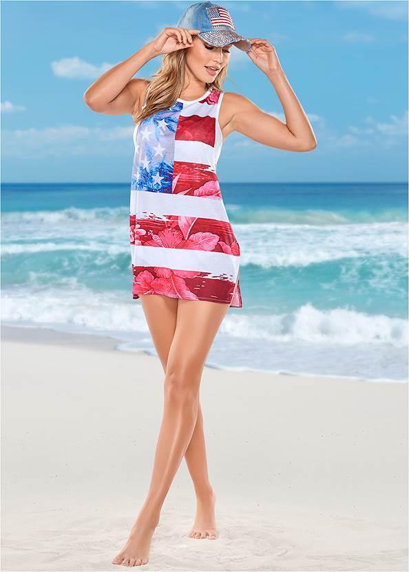 Beachy Tank Cover-Up,Scoop Front Classic Bikini Bottom