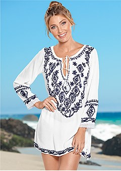 sequin detail cover-up