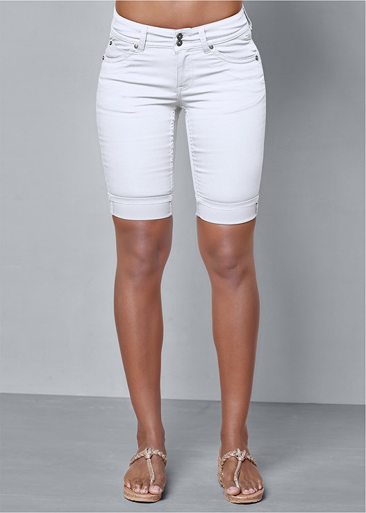 White Long Jean Shorts | VENUS