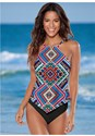 Front view Hanky Hem High Neck Tankini