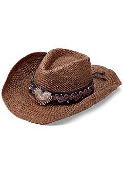 heart detail cowboy hat