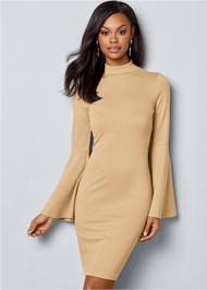 Alternate View Bell Sleeve Dress
