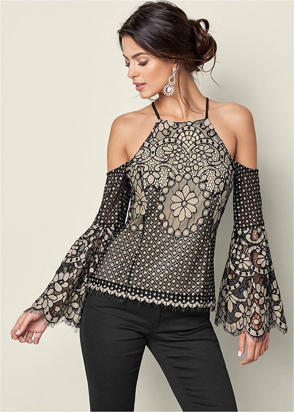 Lace Bell Sleeve Top,Strap Solutions,Color Skinny Jeans,Faux Leather Leggings,High Heel Strappy Sandals,Striped Sequin Backpack
