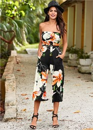 Alternate view Strapless Culotte Jumpsuit