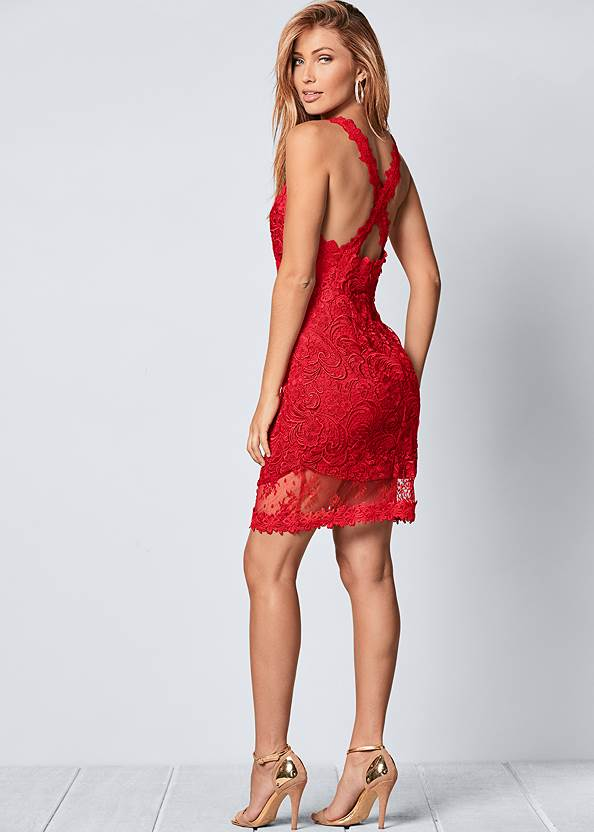 Back view Lace Bodycon Dress