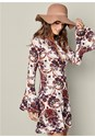 Front View Paisley Boho Dress