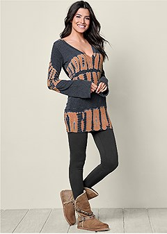 hooded tunic lounge top