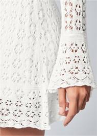Alternate view Cold Shoulder Crochet Dress