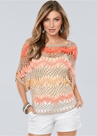 Front View Multicolored Sweater