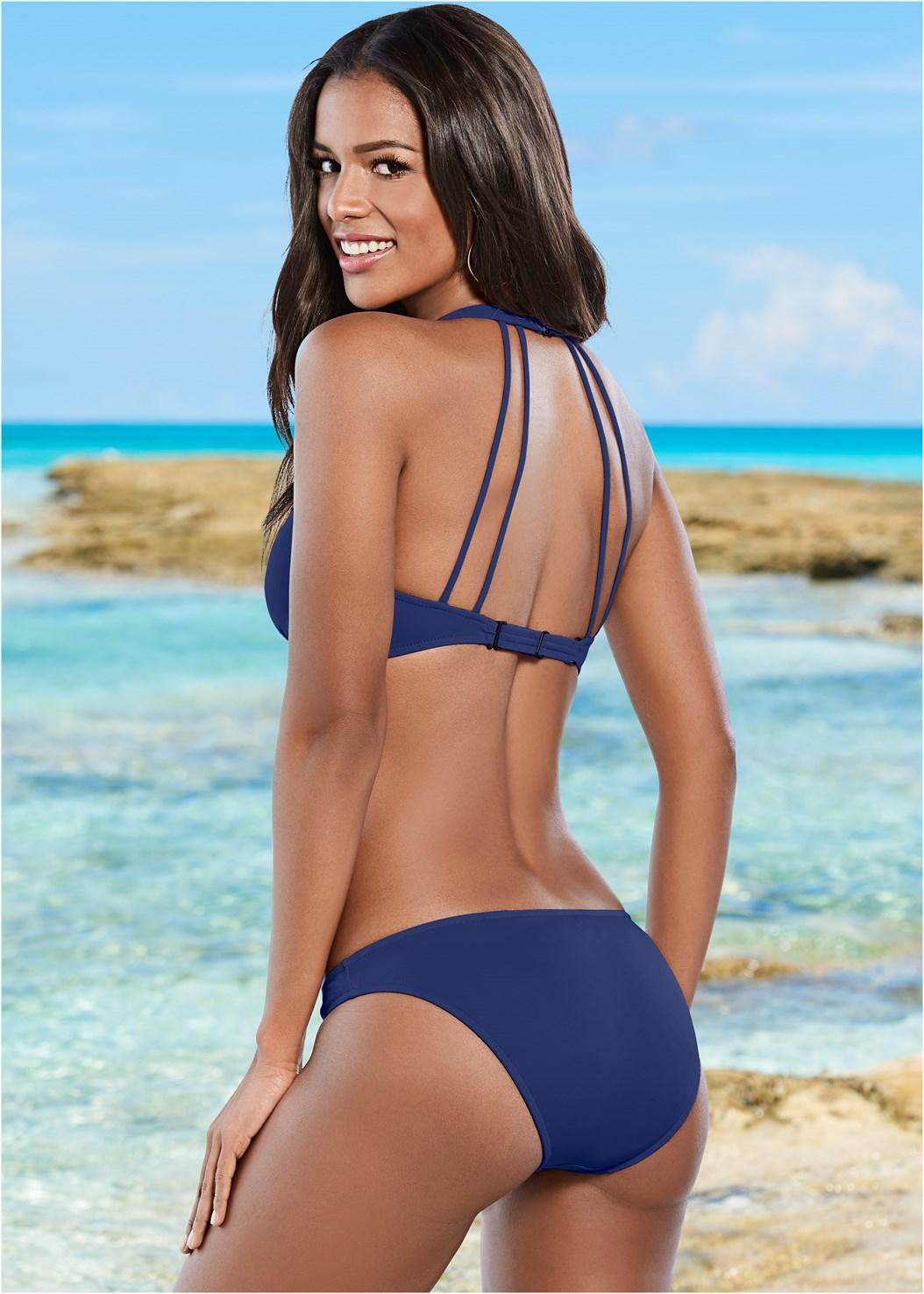 Beach Bella Halter Top,Scoop Front Classic Bikini Bottom ,Low Rise Classic Bikini Bottom