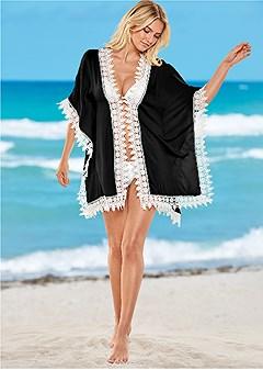 crochet trim kimono