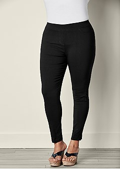 plus size slimming stretch jeggings