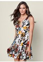 Front view Printed Zip Front Dress