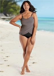 Plus Size Slimming Draped One-Piece