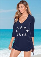 deep v beach cover up